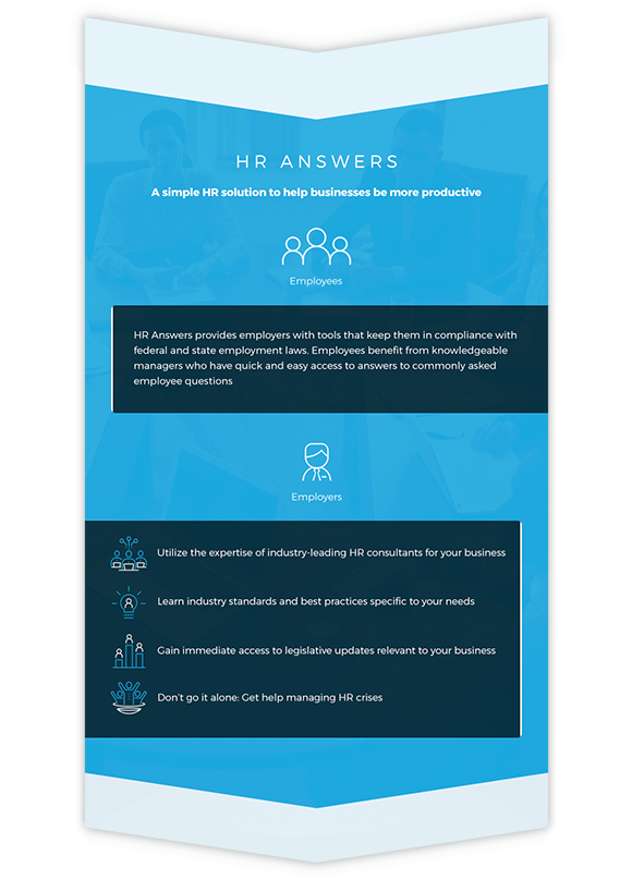 infographic of HR Answers information