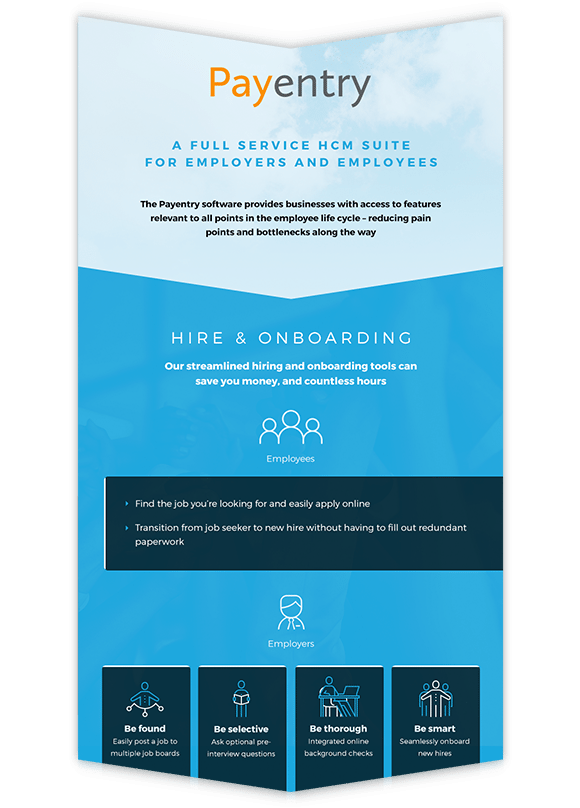 infographic showing HR onboarding software details