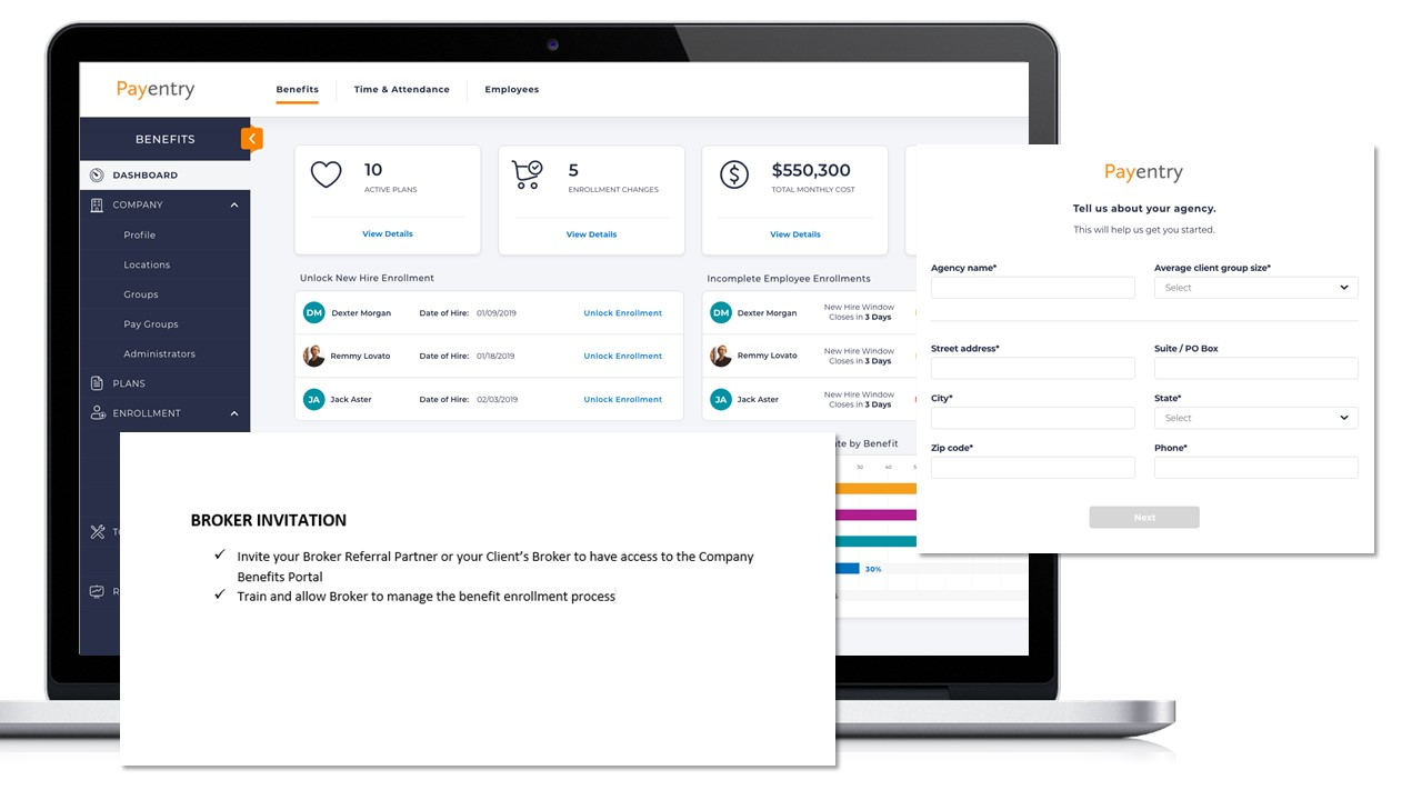 Broker Dashboard for Benefit Enrollment